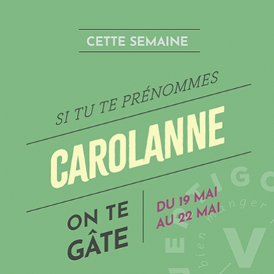 ON TE GÂTE CAROLANNE